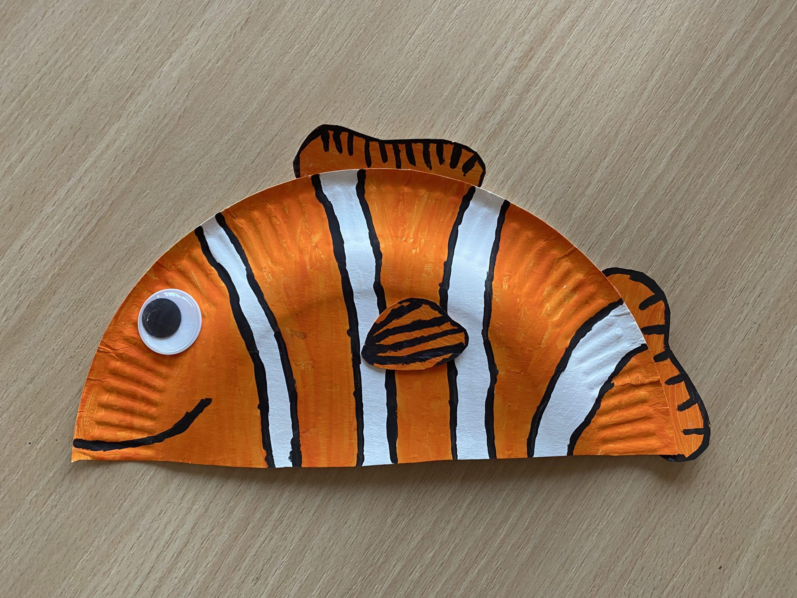 Unter dem Meer – Pappteller Nemo
